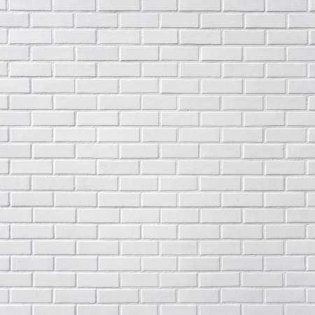 Photo pour White brick wall, square photography - image libre de droit