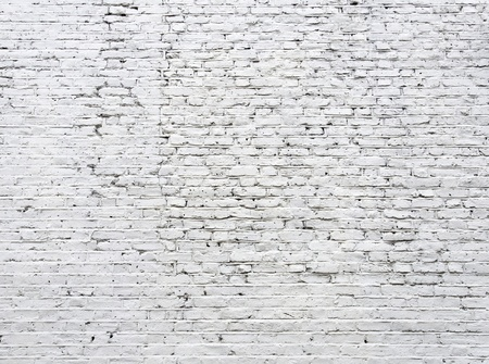 Photo for Cracked white brick wall background - Royalty Free Image