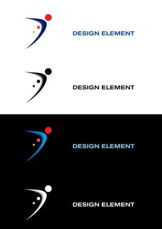 Logo sport templates. Black and white backgrounds