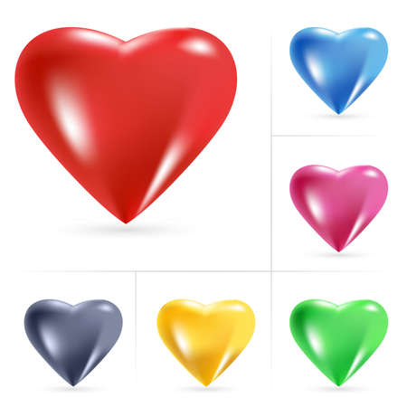 Illustration pour Heart Icons. Vector illustration on white background - image libre de droit
