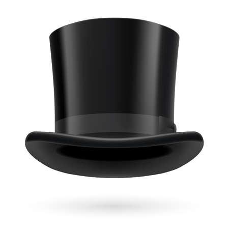 Ilustración de Black top hat on the white background. - Imagen libre de derechos