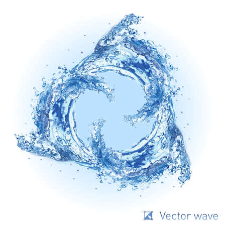 Illustration pour Illustration of Cool water  wave swirl on white background for design - image libre de droit