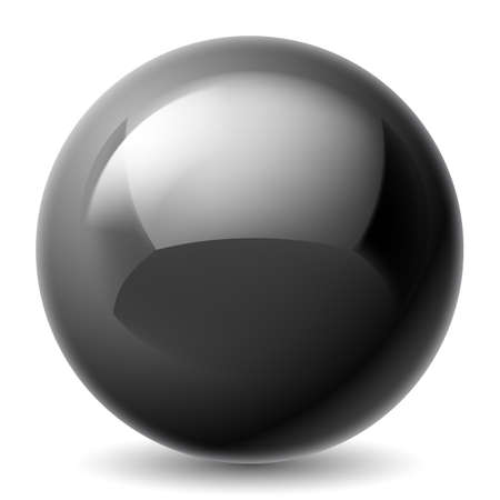 Illustration pour Black metallic sphere isolated on white background - image libre de droit