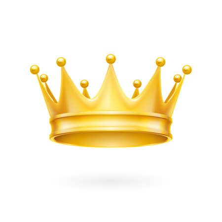 Illustration for Royal attribute golden crown isolated on a white background - Royalty Free Image