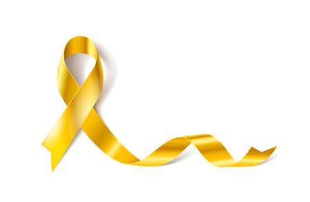 Ilustración de Childhood Cancer Awareness Realistic Ribbon icon - Imagen libre de derechos