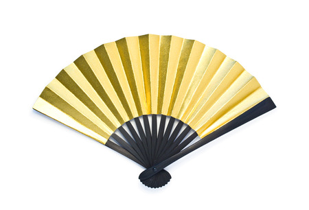 Photo for golden folding fan - Royalty Free Image