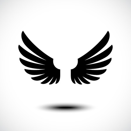 Illustration for Angel wings. Vector illustration - Royalty Free Image