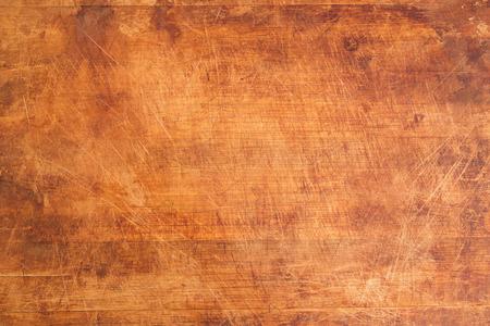 Photo pour Vintage Scratched Wooden Cutting Board Background Texture - image libre de droit