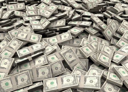 Photo for Pile of packs of dollar bills - Royalty Free Image
