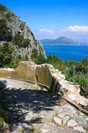 Photo for broken wall-Capri-Italy - Royalty Free Image