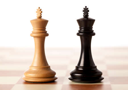 Photo for Impossible situation - two chess kings standing next to each other - Royalty Free Image
