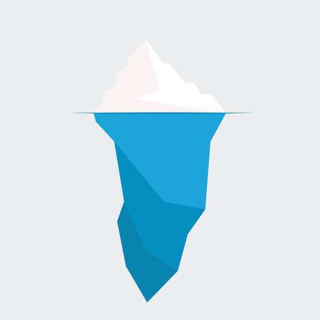 Ilustración de iceberg diagram vector illustration. ice berg icon - Imagen libre de derechos