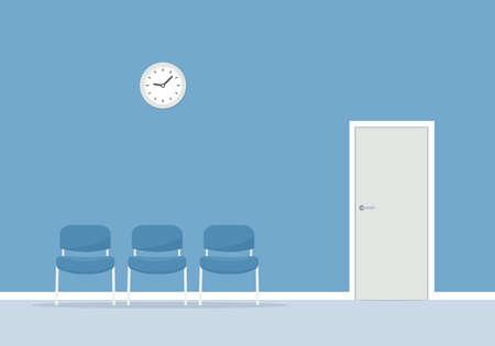 Illustration pour Waiting room with chairs - image libre de droit