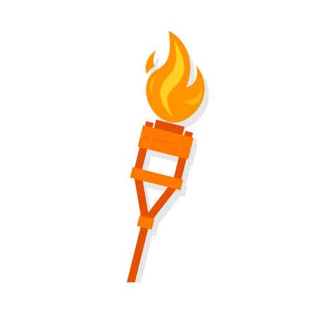 Ilustración de Burning tiki torch icon - Imagen libre de derechos