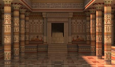 Photo pour 3D Illustration Pharaohs Palace for the Egyptian background - image libre de droit