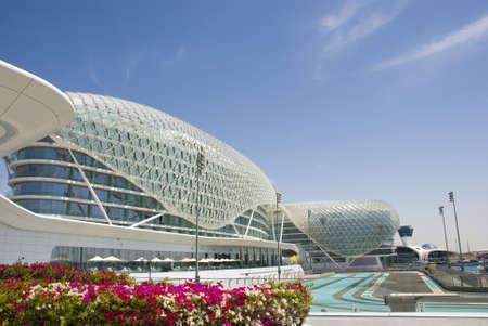 Photo pour Yas Marina - race track in Abu Dhabi, UAE - image libre de droit