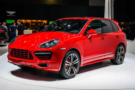 MOSCOW, RUSSIA - AUG 2012: PORSCHE CAYENNE GTS 2 GENERATION presented as world premiere at the 16th MIAS Moscow International Automobile Salon on August 30, 2012 in Moscow, Russia