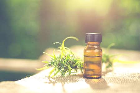 Foto de Cannabis oil, CBD oil cannabis extract, Medical cannabis concept. - Imagen libre de derechos
