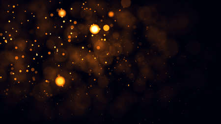 Photo for Gold abstract bokeh background. real backlit dust particles with real lens flare. - Royalty Free Image