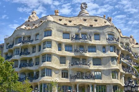 Photo for Casa Mila (La Pedrera) by Antoni Gaudi. Barcelona, Spain. - Royalty Free Image