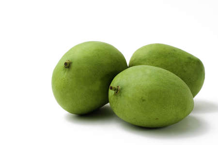 Food Related: Three Whole Green Mango