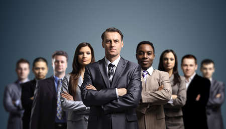 Foto de Young attractive business people - Imagen libre de derechos