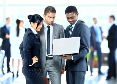 Photo pour Successful business people working together - image libre de droit