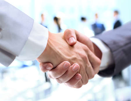 Photo for Closeup of a business handshake - Royalty Free Image