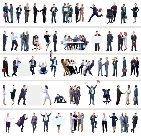 Foto de collection of full length portraits of business people - Imagen libre de derechos