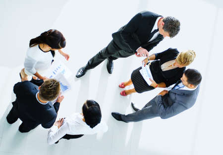 Photo for Top view of business people with their hands together - Royalty Free Image