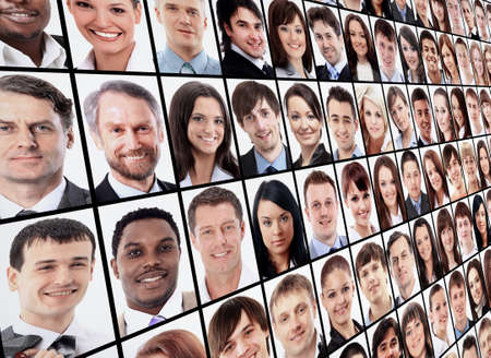 Foto de Many the isolated portraits of people - Imagen libre de derechos