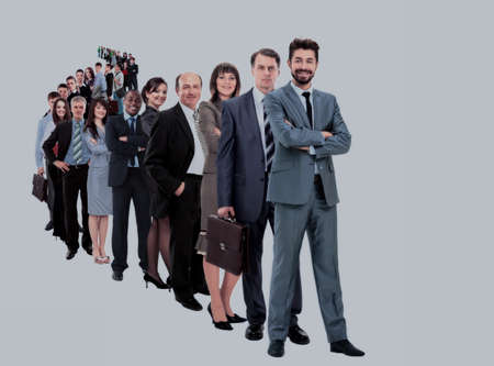 Photo pour Large group of businesspeople - image libre de droit