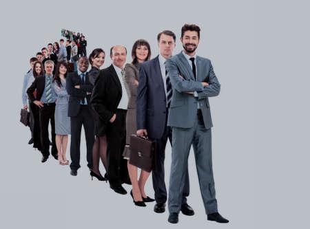 Photo pour Large group of businesspeople - image libre de droit