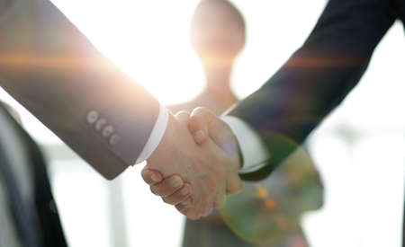 Photo for background image of handshake of business people . - Royalty Free Image