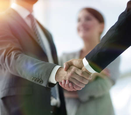 Photo for closeup of handshake of business partners - Royalty Free Image