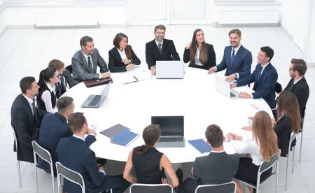 Photo for meeting business partners in the conference room. - Royalty Free Image