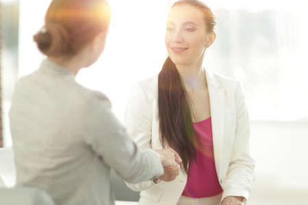 Photo for handshake business woman with a client - Royalty Free Image
