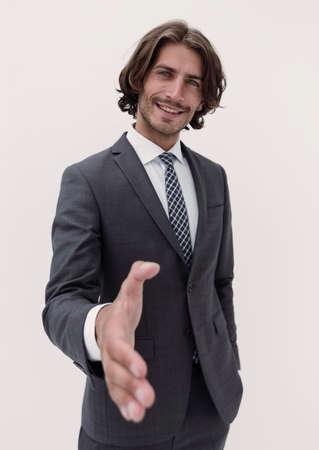 Photo pour man offer business partnership - image libre de droit