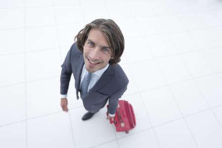 Foto de view from the top.businessman with Luggage - Imagen libre de derechos