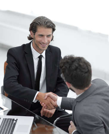 Photo for closeup. business handshake in an office. - Royalty Free Image