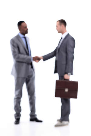 Photo for Blurred business people. Handshake of two business men. - Royalty Free Image