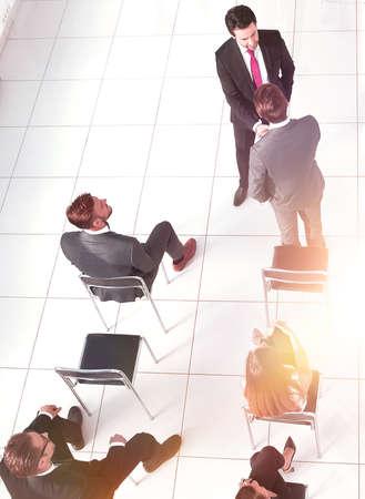 Foto de Business people at a conference, top view - Imagen libre de derechos
