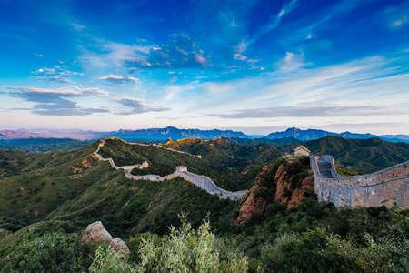 Photo for Sunrise at Jinshanling Great Wall of China, Jinshanling, Beijing, China - Royalty Free Image