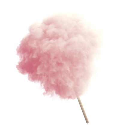 Photo for Cotton candy on wooden stick - Royalty Free Image