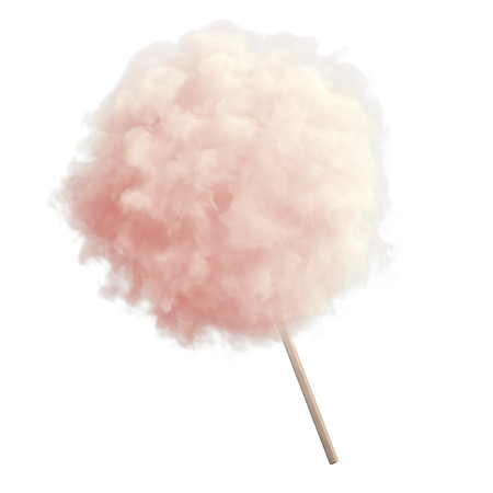 Photo for Pink cotton candy on white isolated backround - Royalty Free Image