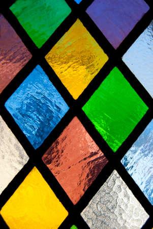 Foto de stained glass window of colored glass - Imagen libre de derechos