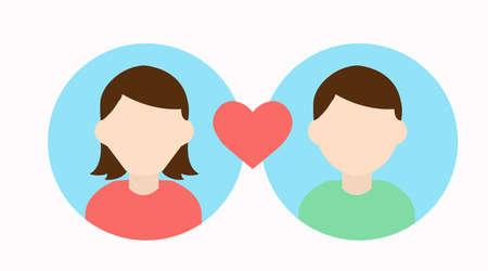 Ilustración de Vector Isolated Illustration. Match Icon, Couple Icon - Imagen libre de derechos