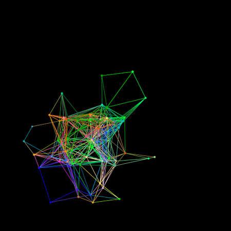 Illustration pour Abstract colored lines image illustration - image libre de droit