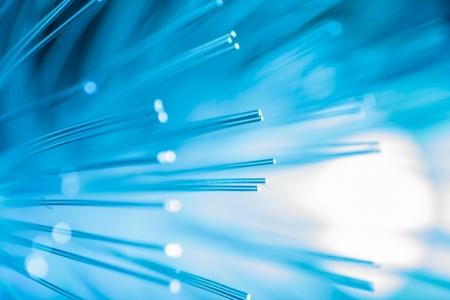 Foto de Blue fiber optic background.  - Imagen libre de derechos