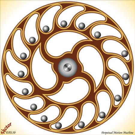 Ilustración de Perpetual Motion Machine - Imagen libre de derechos